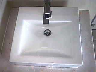 After - the finished basin.  No more damage on the corner - the basin looks as good as new #DontReplace #Resurface.