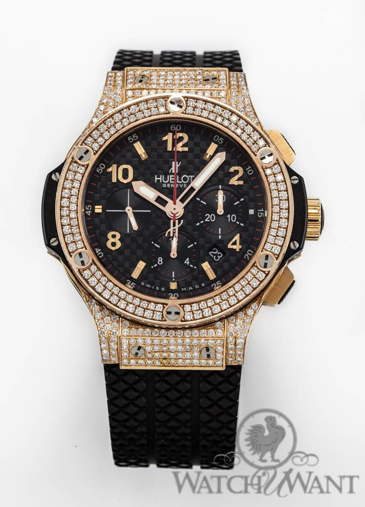 Hublot Diamond Watch | Hublot Big Bang Chronograph Automatic - Factory Applied Diamond Bezel ...