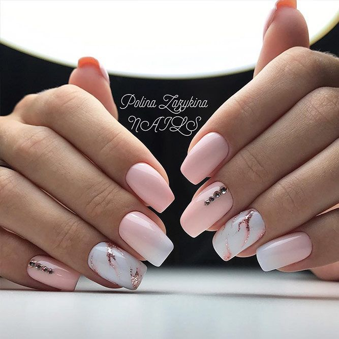 18 Pink and White Nails Designs for a Popular and Classic Mani Look ★ Beautiful Light Pink Nails for Classy Look Picture 5 ★ See more: http://glaminati.com/pink-and-white-nails/ #pinkwhitenails #pinknails