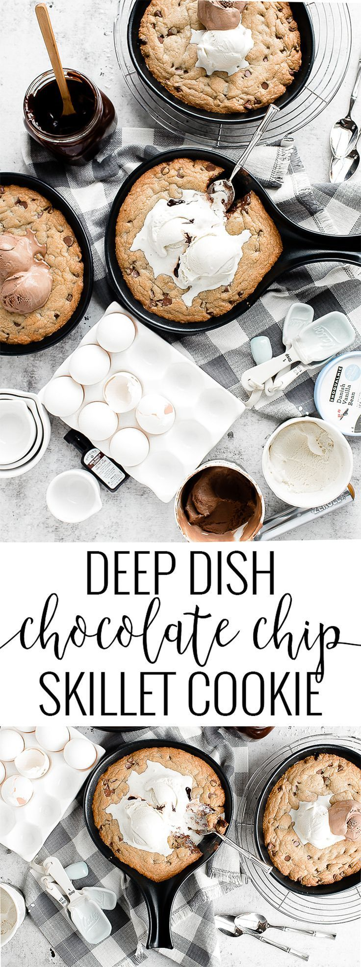 Deep Dish Chocolate Chip Skillet Cookie