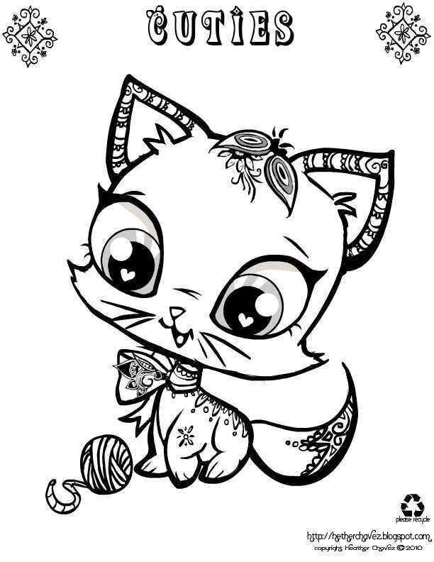 Free Coloring Pages Of Dogs And Cats : 106 best !dog cat coloring images on pinterest