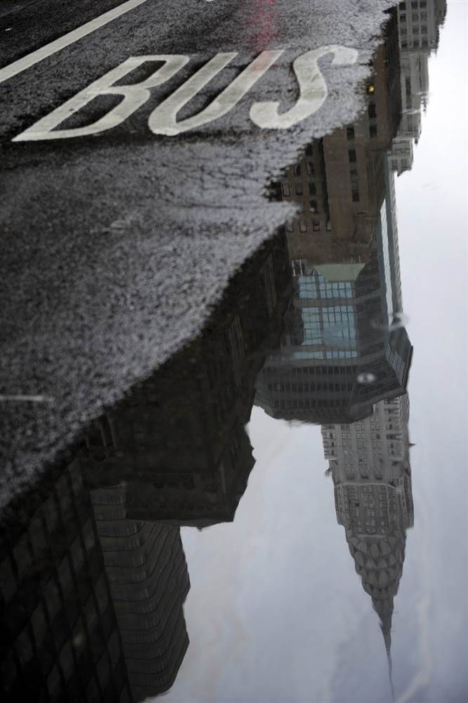 Reflection after the rain.  great idea for a composite video piece