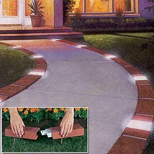 Best 25 driveway border ideas on pinterest for Faux brick edging