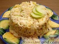 Фото к рецепту: Салат из сельдерея с сыром и яблоками
