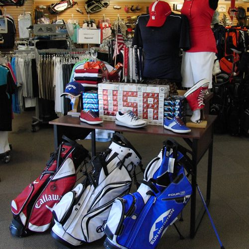 USA Fourth of July Golf Display.