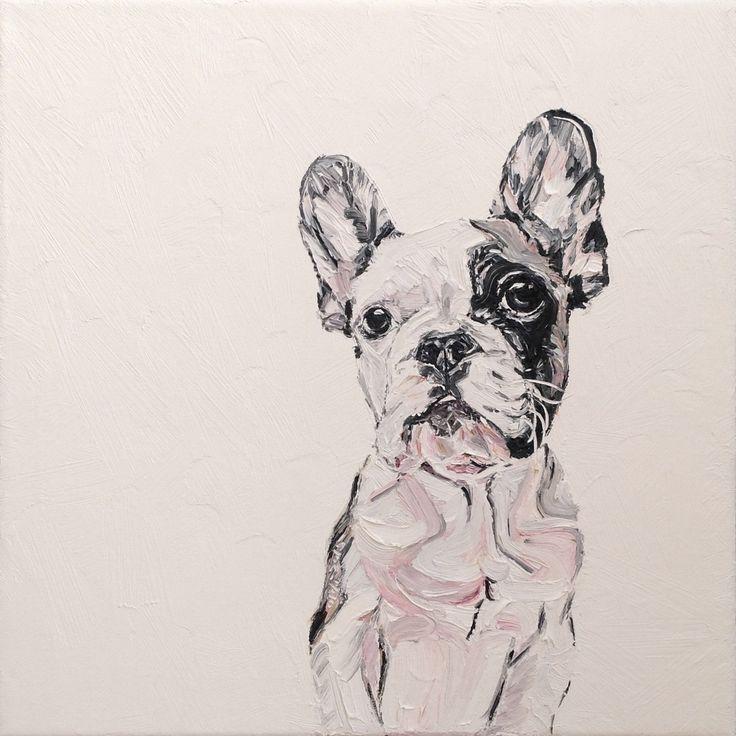 Oldi's Portfolio - 2015 #oldiart #oil #canvas #painting #frenchy #frenchbulldog #brixton