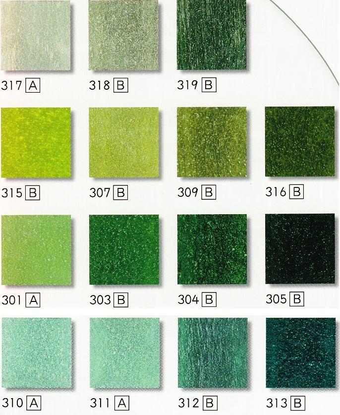 楽天市場 ガラスモザイクタイル シート販売 20角 緑色 グリーン系