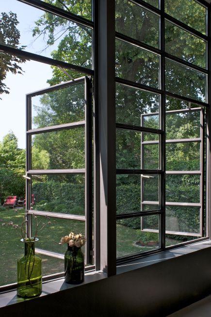 nach außen öffnende Fenster - Anbau Esszimmer, Küche an Siedlerhaus 30er Jahre