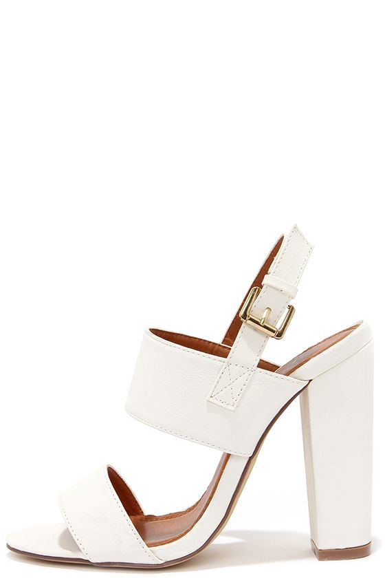 4a921eb32 Fay 1 White High Heel Sandals