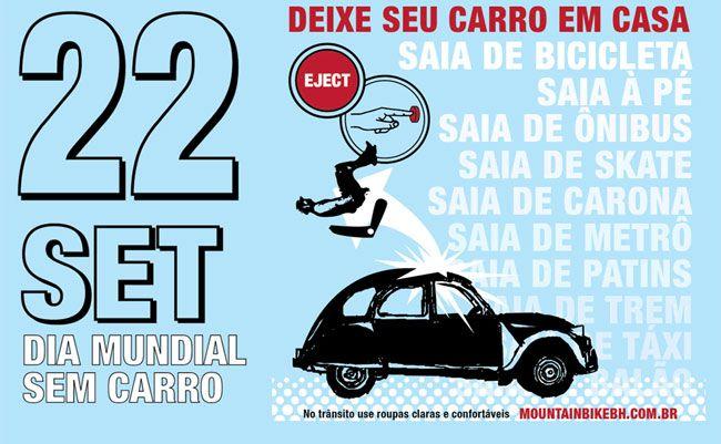É amanhã!  Vá de bicicleta: 22 de setembro, dia mundial sem carro