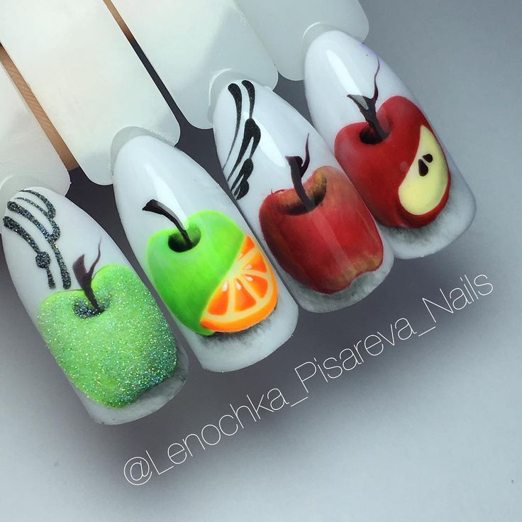 """Яблочки гель-лаками и гель-красками от @lenochka_pisareva_nails  Курс """"Фруктовое ассорти"""" 27 Мая -Уссурийск, 28 Мая - Владивосток"""