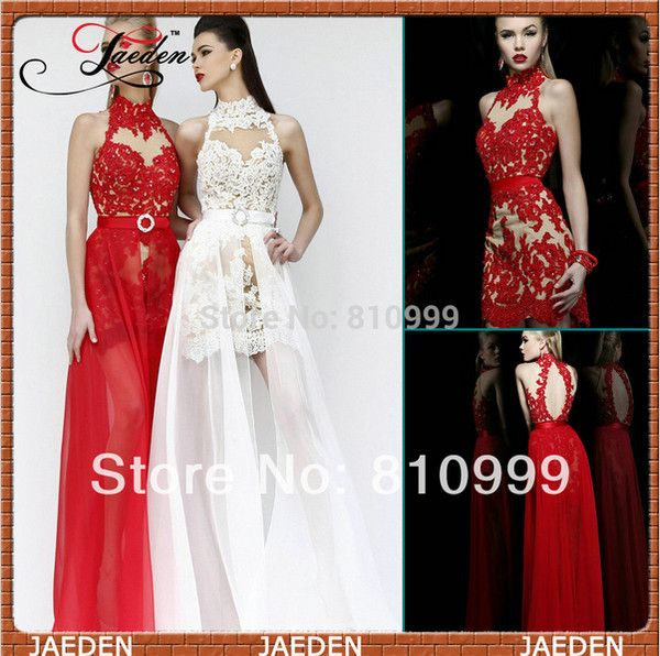 red dress ivory dress high neck sexy prom dress sexy dress red lace dress lace prom dress backless backless dress chiffon