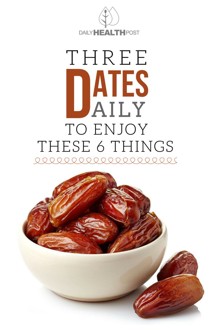 Eat 3 Dates Daily And These 6 Things Will Happen To Your Body! via @dailyhealthpost