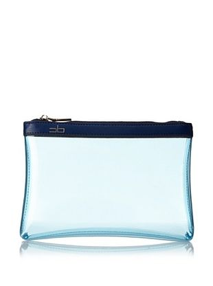 53% OFF COURAGE. b Women's Moorea-To-Go Zip Case, Clear Blue/Blue