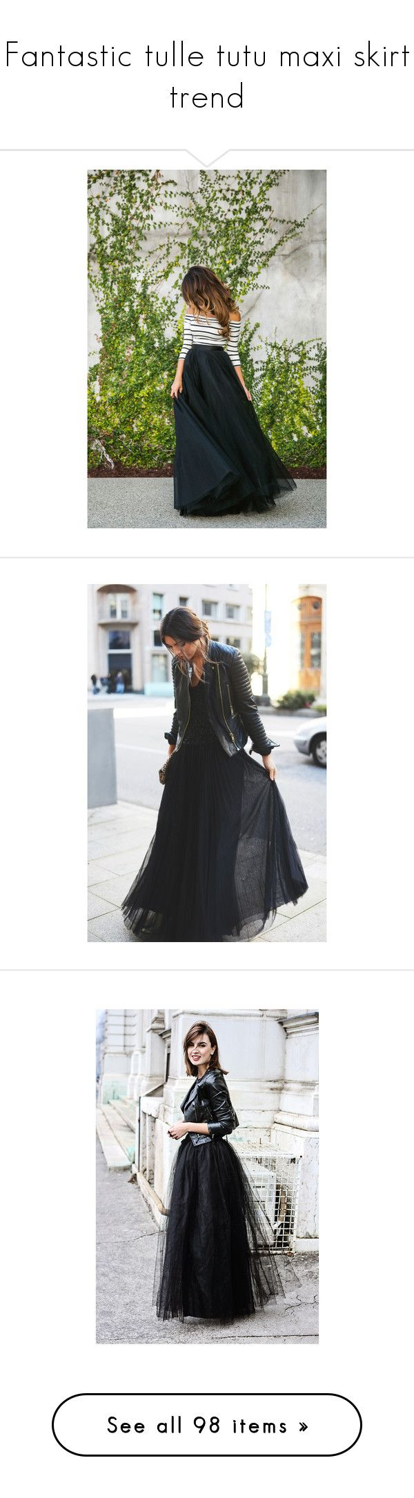 """""""Fantastic tulle tutu maxi skirt trend"""" by noseforfreedom ❤ liked on Polyvore featuring TrickyTrend, tulletutumaxiskirt, skirts, long ankle length skirts, long tulle skirt, puffy tulle skirt, long tulle maxi skirt, layered tulle skirt, dresses and black                                                                                                                                                      More"""