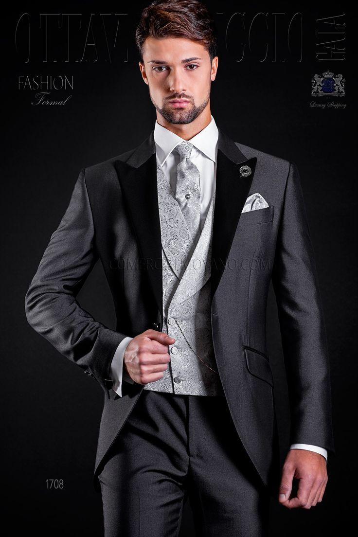 Schwarze hose graues hemd