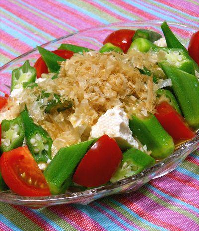 夏のヘルシーおかず、オクラと豆腐のおかか和えサラダ。 by akkiさん ...