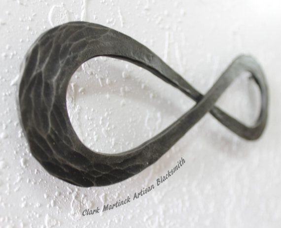 Infinity Symbol love knot Iron Anniversary Gift by toughandtwisted