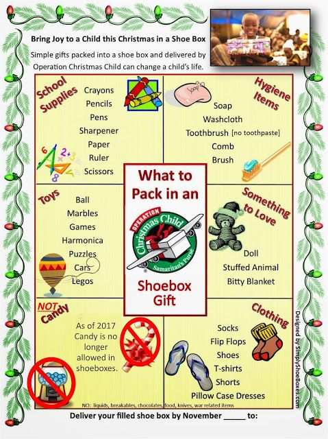 12 best Operation Christmas Child images on Pinterest | Shoe box ...