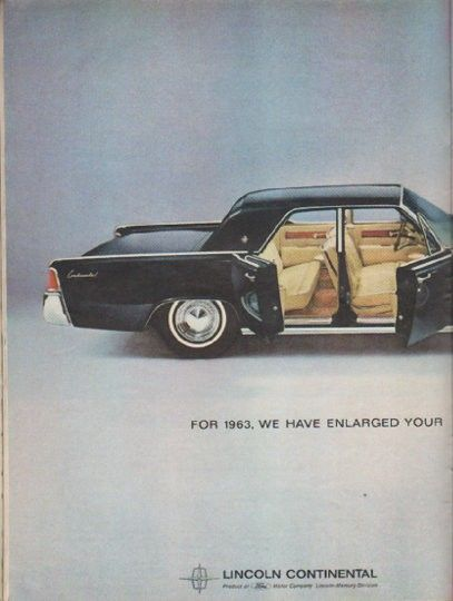 1963 lincoln continental vintage magazine advertisement for 1963 model year 1963 for. Black Bedroom Furniture Sets. Home Design Ideas