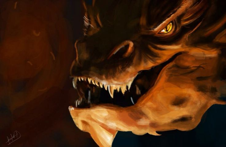 Ilustración of smaug - The hobbit   Photoshop