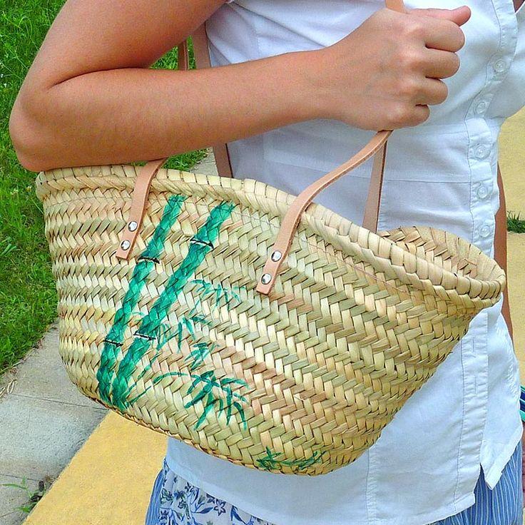 El primer bolso es el bambú... #bolsos #capazos www.artaliquam.com