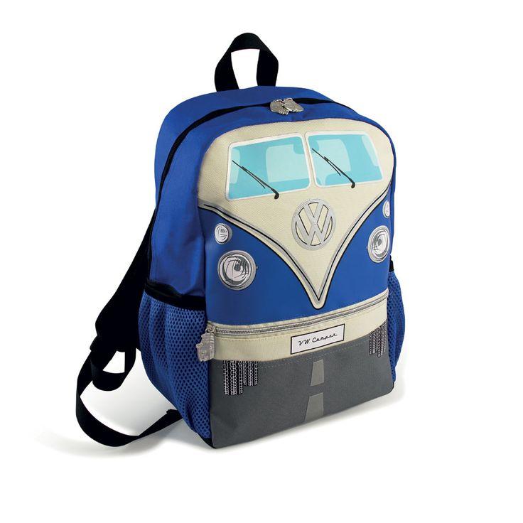 VW Volkswagen Kombi Camper Van Combi Backpack Blue