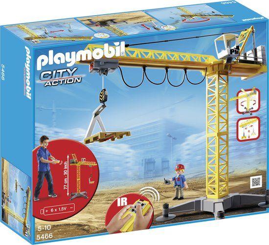 bol.com | Playmobil Grote hijskraan met IR-afstandsbediening - 5466,Playmobil | Speelgoed...