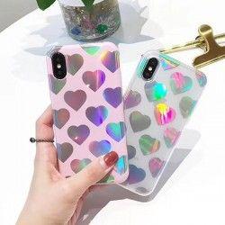 韓国 ins人気ハート型 アイフォン8ケース キラキラiphone7/6s plusカバー ピンク 女子20代30代40代  可愛い ピンク レーザー光