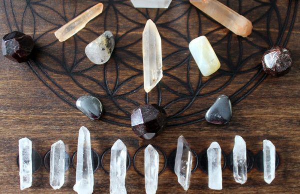 Crystal Grid - Arched with Moon Phases | Stone & Violet