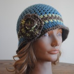 Free Spring Crochet Hat pattern- Beverly's Cloche in Vanna's Choice