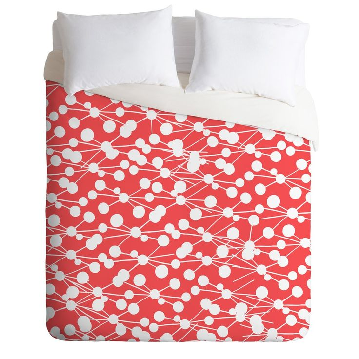 Rachael Taylor Rad Dots Coral Duvet Cover | Deny Designs Home Accessories