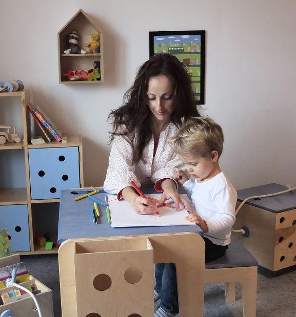 Edyta z LapGap  - zamieniła pracę za biurkiem na robienie niebanalnych mebli dla dzieci
