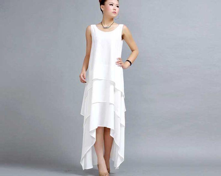 Blanc maxi robe tout simplement robe robe de bal par xiaolizi