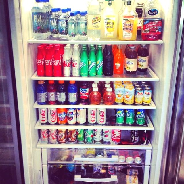 The Kardashians Fridge.......:0 -taken From Kendall Jenner