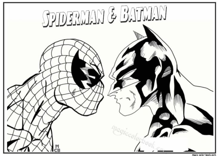Batman Vs Spiderman Batman Spiderman Coloring Pages