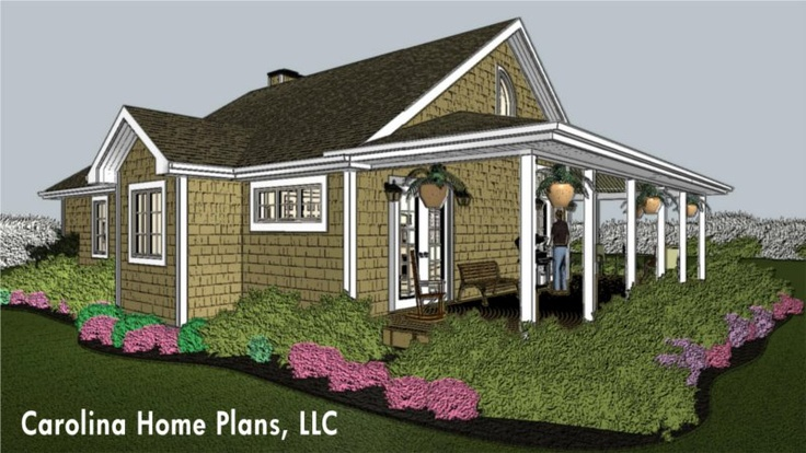 Cute Little Beach Cottage House Plan Open Great Room