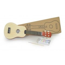 The Ukulele is enjoying a renaissance as the younger generation is discovering the fun and ease of playing this classic instrument and this wooden 'DIY ukulele' kit makes creating your custom Ukulele easy and fun! £18.99