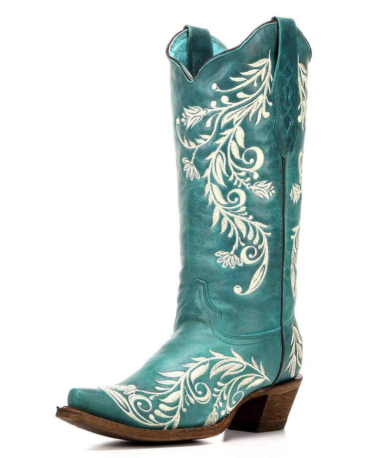Corral | Women's Turquoise Snip Toe Cowgirl Boot | Country Outfitter