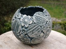 Pflanzkugel-Keramik-Patchwork-XL