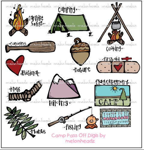 Summer Camp Skills Did You Learn Any Of These At Camping ClipartChurch IdeasSummer