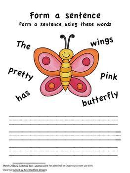 Spring Literacy Worksheets
