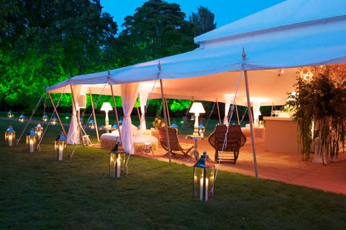 This marquee is beautiful but things to consider with this style include insects, weather, temperature, winds, and handling guest crowds.