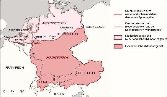 Karte Lautverschiebung