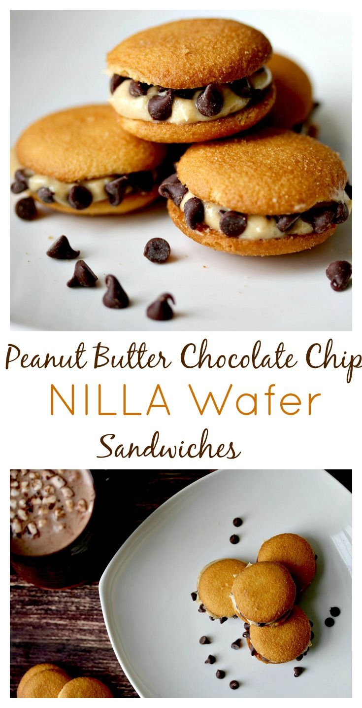 Peanut Butter Chocolate Chip NILLA Wafer Sandwiches are the perfect after school snack or simple dessert option!