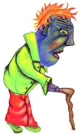 Oldman Wiggy - Illustration for Children's Storybook 2002