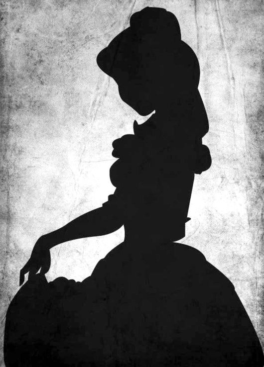 Princess Belle Silhouette Beauty And The Beast Template Diy Disney Pinterest Beauty And