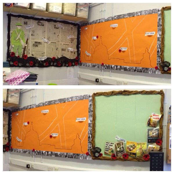 WW2 Classroom Display across 3 boards.