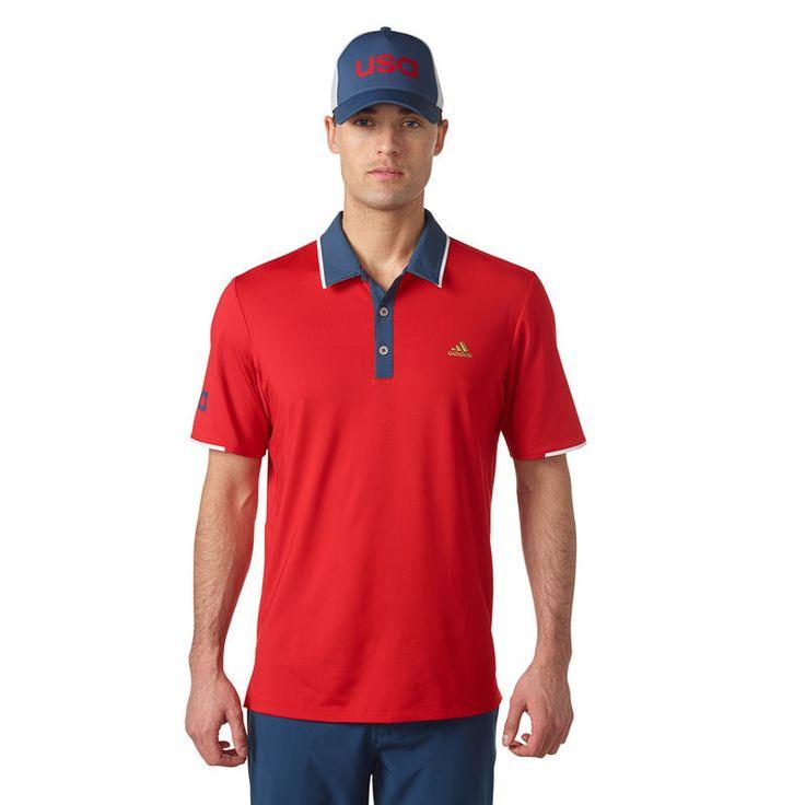 USA Golf adidas Range Polo - Scarlet
