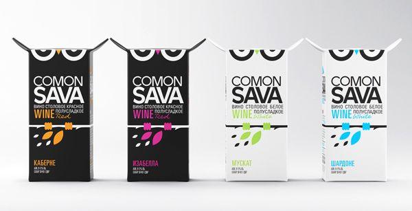 Концептуальная упаковка вина Comon Sava